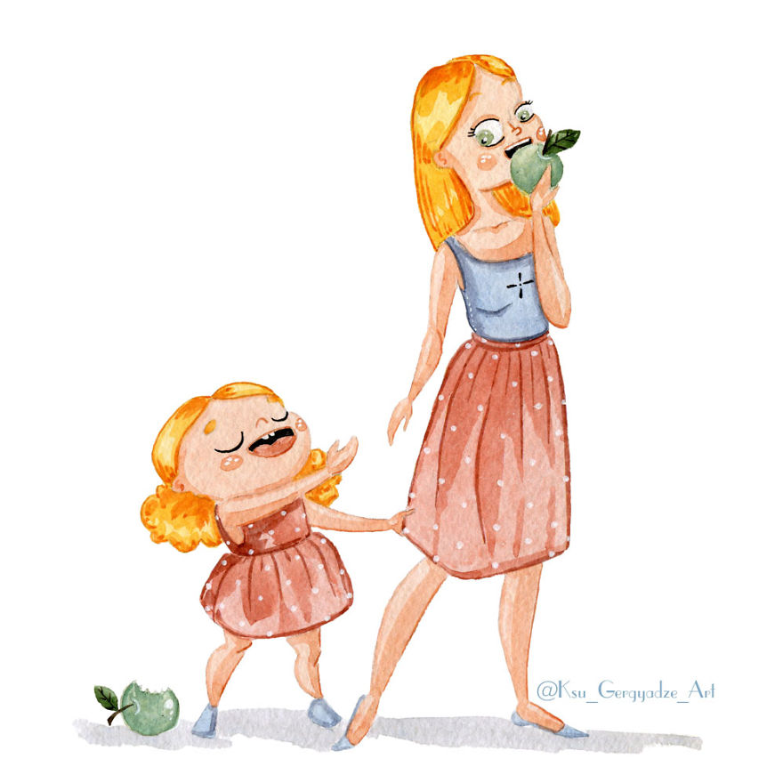 Смешные рисунки про дочек, цветов