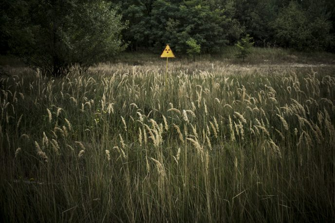 Radioactive field near Chernobyl Nuclear Power Plant