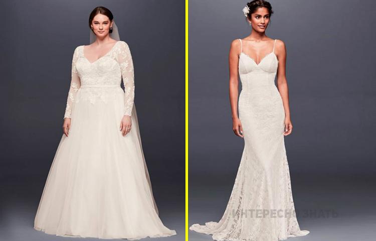 Свадебное платье по фигуре: как правильно выбрать для своего типа
