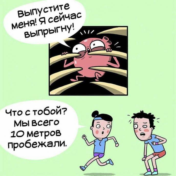 10 остроумных комиксов о тяжёлой жизни человеческих органов