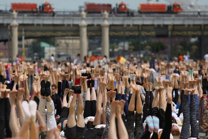 Международный День йоги в Парке Горького