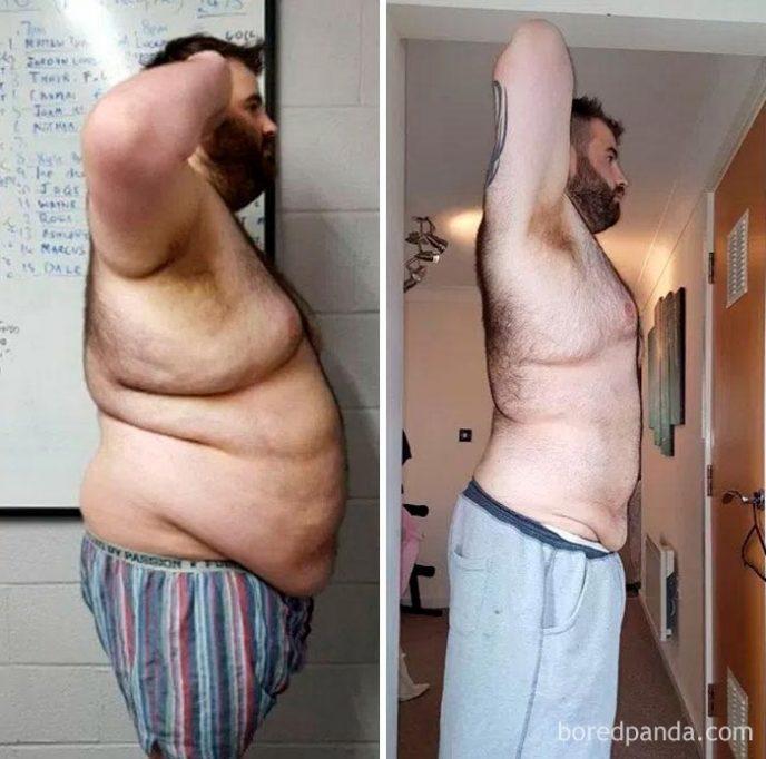 Сильно похудел мужчина