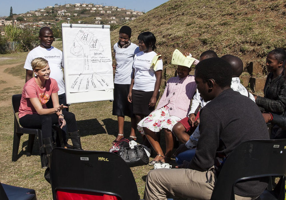 Charlize Theron Global Fund Visit