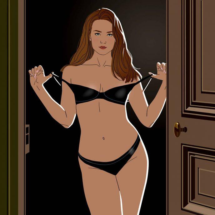 12 откровенных иллюстраций, показывающих тайную жизнь девушек 12