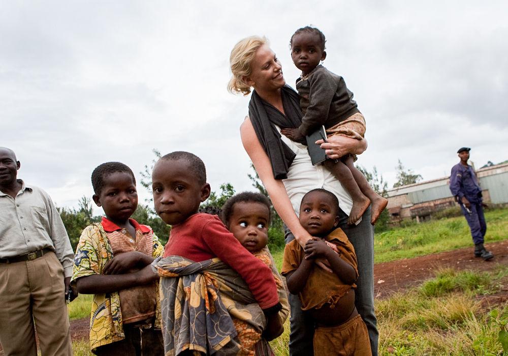 Actor Ms Chalize Theron, UN Ambassador for Peace, visits Panzi H