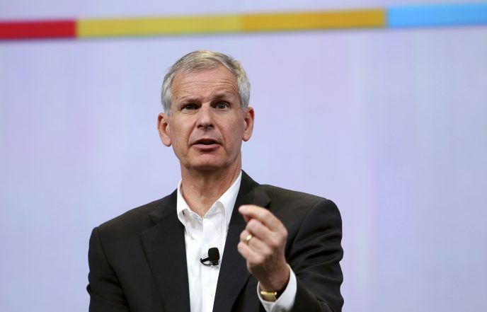 Dish Network Chairman Charlie Ergen speaks during Google's annual developers conference in San Francisco