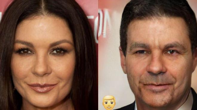 Как бы выглядели известные красавицы, будь они мужчинами 40