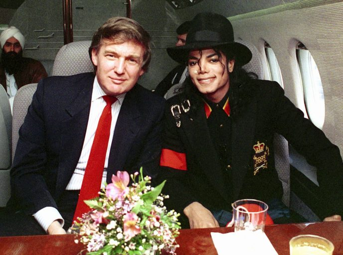 (EXCLUSIVE, Premium Rates Apply) Donald Trump and Michael Jackson *Exclusive* (Photo by Donna Connor/FilmMagic)