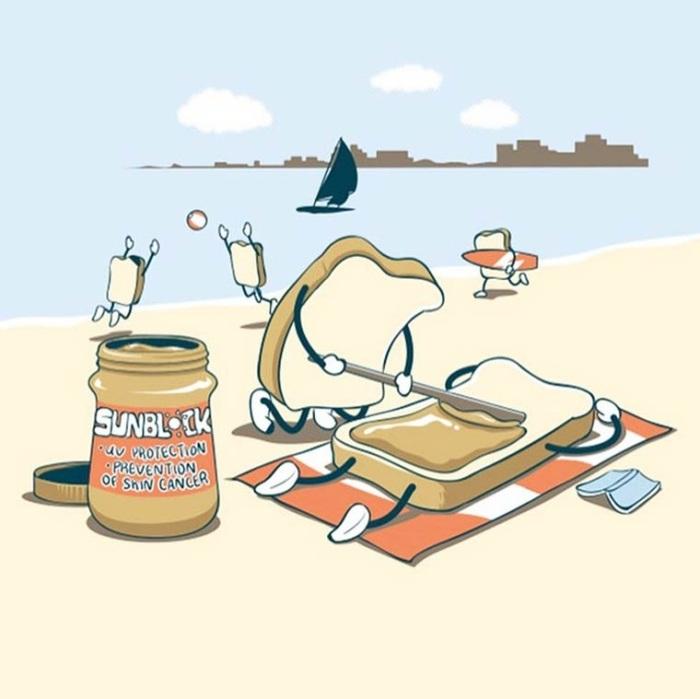 Хорошего дня, прикольные картинки на тему еду с моря
