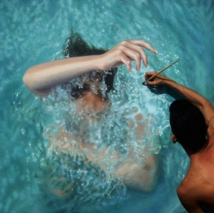 Две девушки плавающие под водой видео