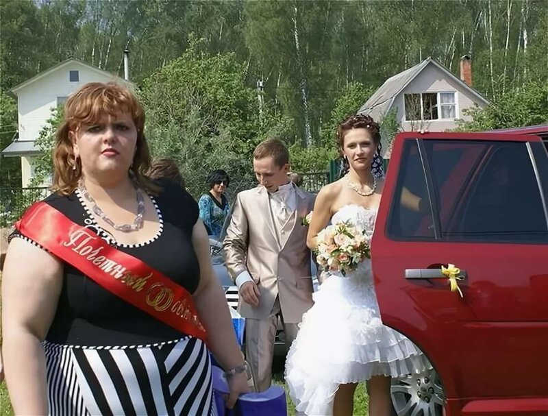 Свадебные фото трэш
