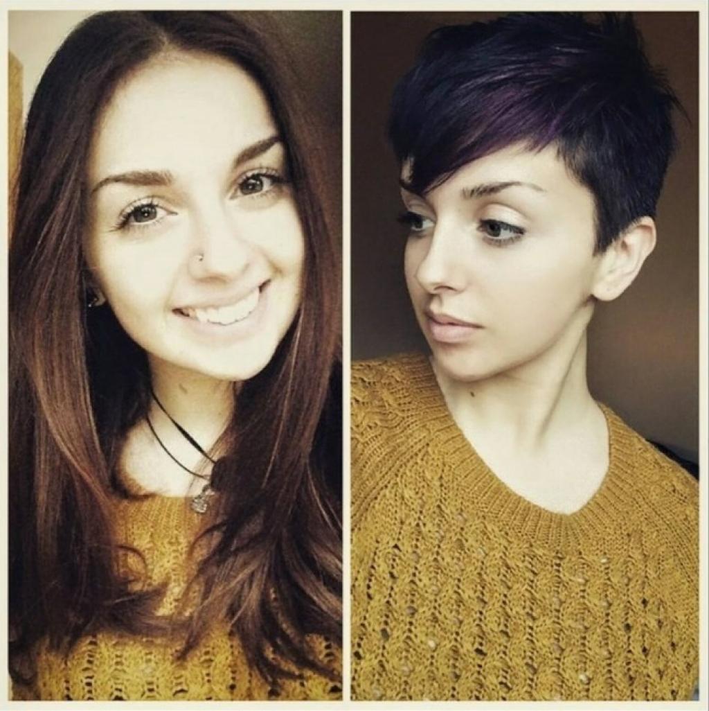 коротко подстриглась фото до и после фото ткани москва