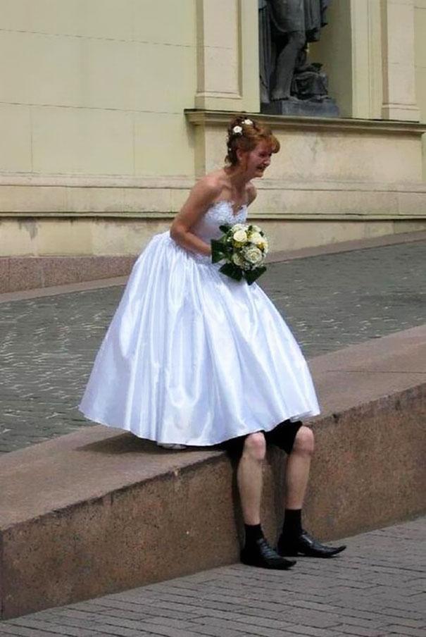 Прикольные картинки в свадебных платьях