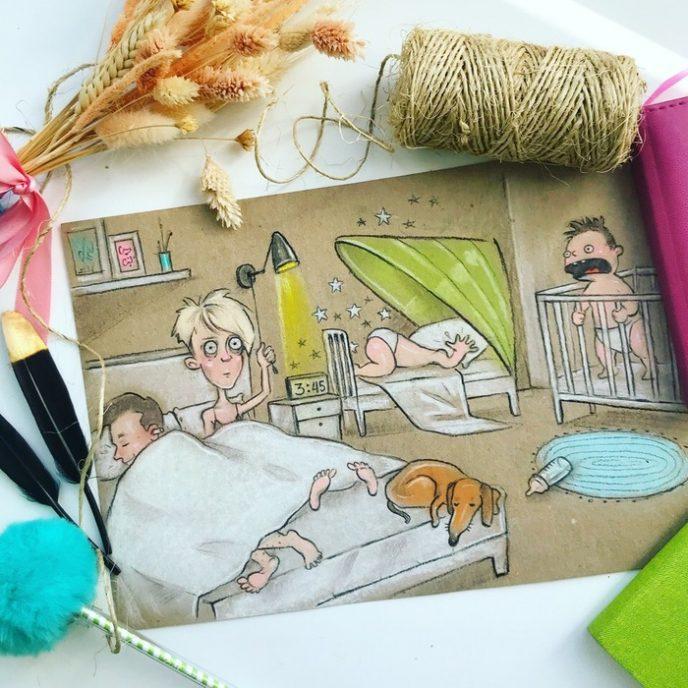Когда у тебя двое детей: 11 иллюстраций о том, как тяжело быть мамой