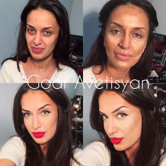 Впечатляющие примеры того, как макияж стирает возраст и меняет черты лица 11
