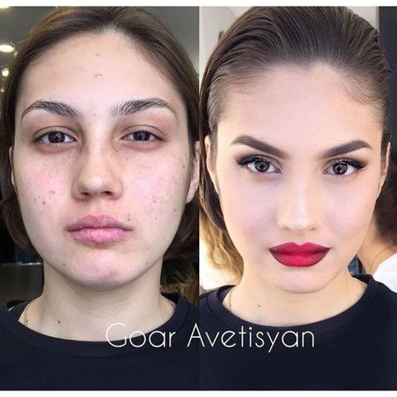 Впечатляющие примеры того, как макияж стирает возраст и меняет черты лица 12