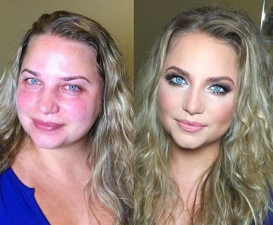 Впечатляющие примеры того, как макияж стирает возраст и меняет черты лица 3