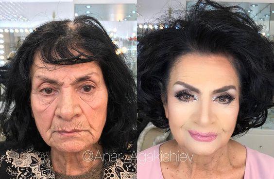 Впечатляющие примеры того, как макияж стирает возраст и меняет черты лица 6