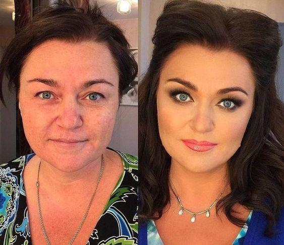 Впечатляющие примеры того, как макияж стирает возраст и меняет черты лица 4