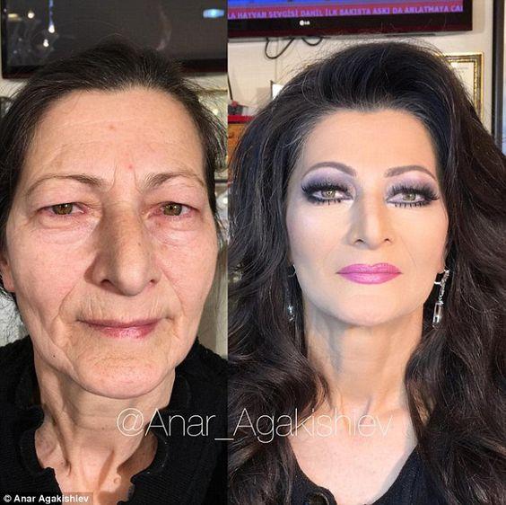 Впечатляющие примеры того, как макияж стирает возраст и меняет черты лица 7