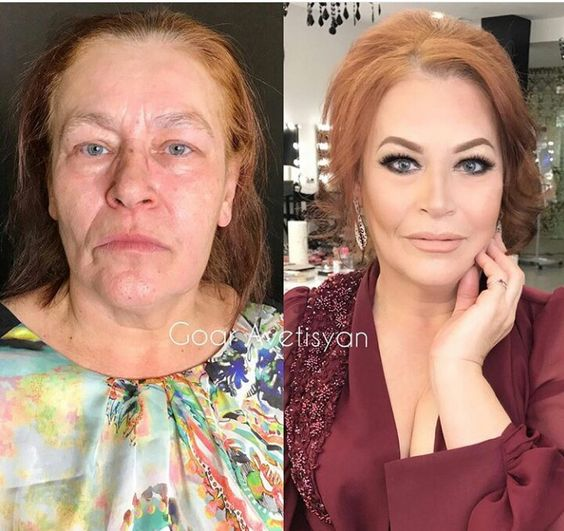 Впечатляющие примеры того, как макияж стирает возраст и меняет черты лица 8