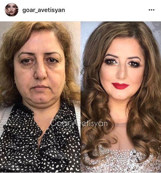 Впечатляющие примеры того, как макияж стирает возраст и меняет черты лица 10