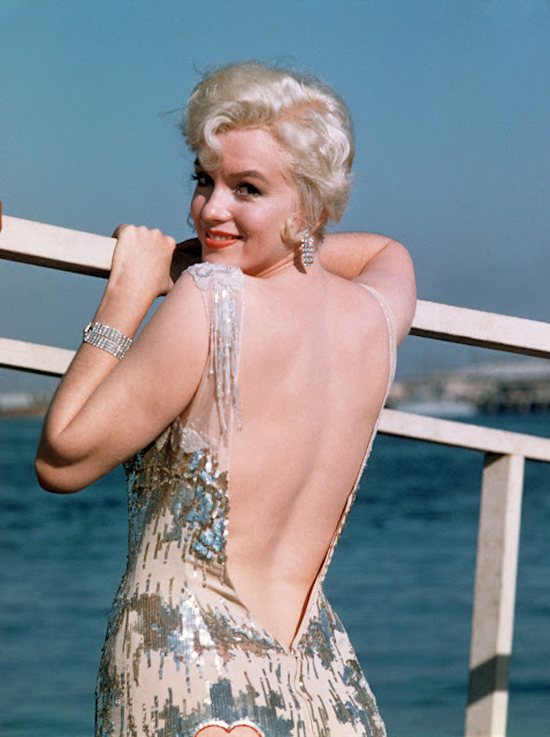 B3MG2Y MARILYN MONROE US film actress in September 1958 while filming Some Like It Hot