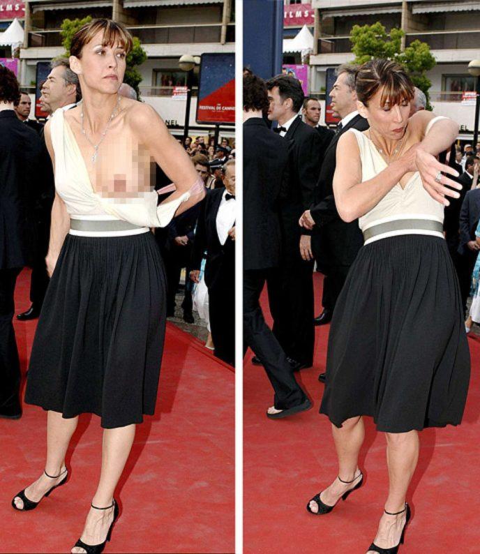 У актрисы неожиданно выпала грудь, классный рисунок карандашом